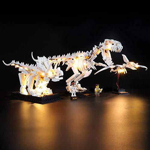 ZJLA Kit de iluminación LED para fósiles de dinosaurio LEGO Ideas, compatible con el modelo de bloques de construcción LEGO 21320, no incluye el juego de Lego.