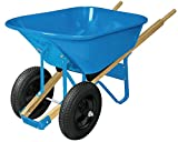 Wheelbarrow, Steel, 6 cu. ft, 2 Pneumatic