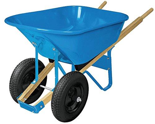 Wheelbarrow, Steel, 6 cu. ft, 2 Pneumatic