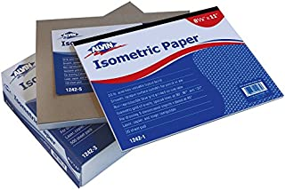 Alvin, Isometric Graph Paper Pad, Designer Paper Drawing Pad - 100 Sheets, 8.5 inches x 11 inches