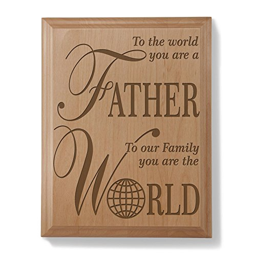 Natural Wood Engraved Plaque