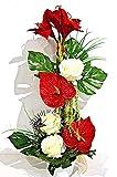 tatjana-land-deko Amaryllis Kunstblume Tischdeko künstliche Blume Dekoration Arrangement TD41-2