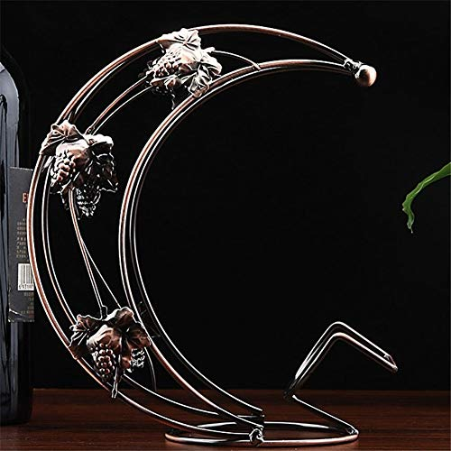 AleXanDer1 Estantería de Vino Vino del Metal Estante Colgante del Vidrio De Vino Estante De La Barra Soporte Soporte Estante De Exhibición Decoración De La Boda (Color : Bronze)
