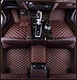 Modelos de coches Tapetes for MaseratiAll GranTurismo Ghibli Levante Quattroporte Auto Parts Car Styling Mats encargo, Brown (sistema completo), café (juego completo) ( Color : Coffee (full set) )
