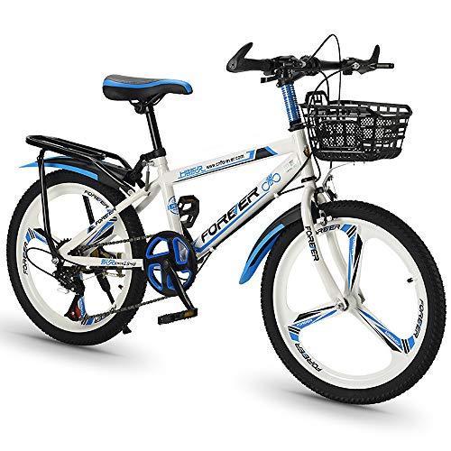 Bicicleta De Montaña para Estudiantes Bicicleta De Cercanías De 20 Pulgadas Bicicleta De Carretera Ajustable De 6 Velocidades Ruedas De 3 Radios Bicicleta De Ciclocross De Doble Suspensión