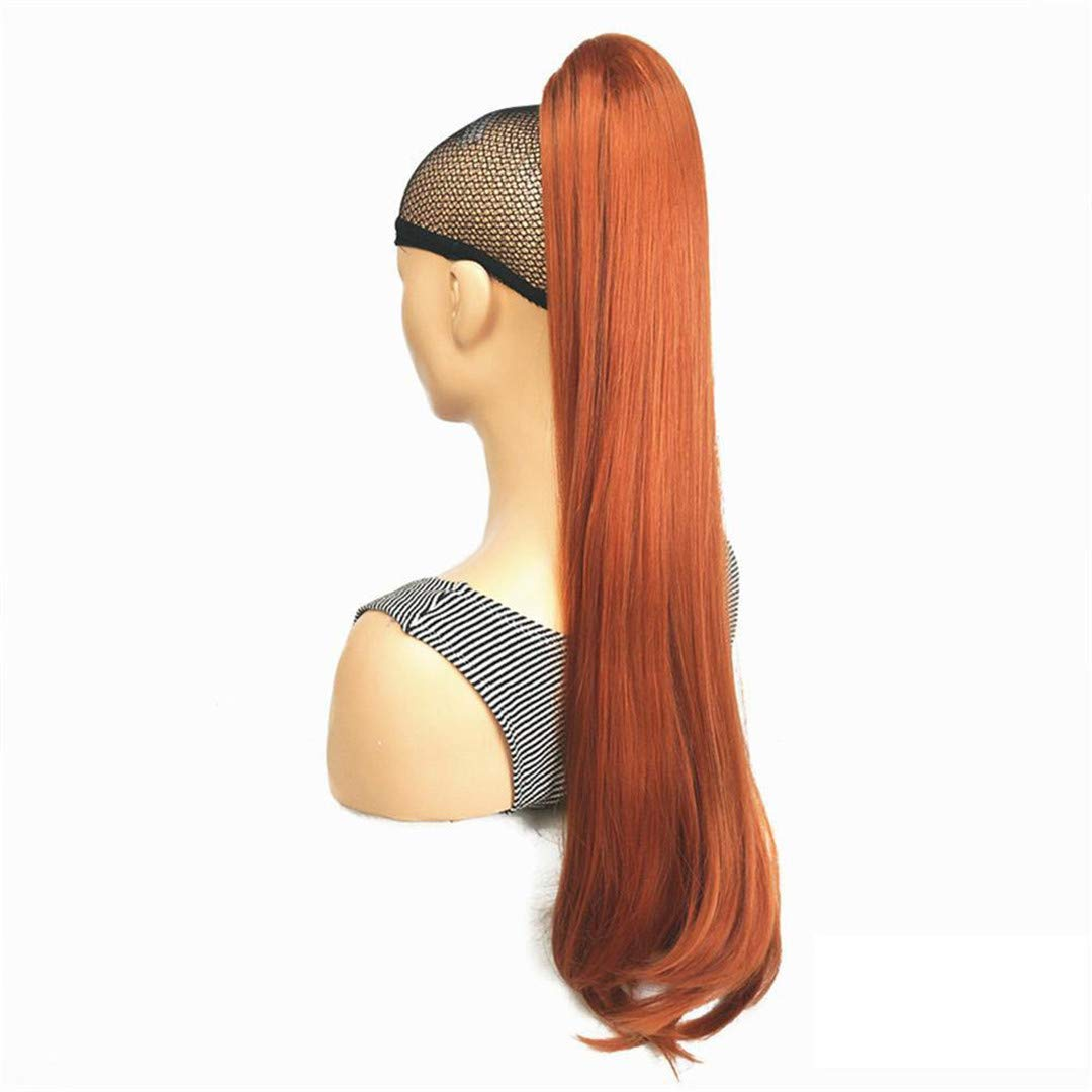 Time sale Claw Clip Milwaukee Mall Ponytail Long Straight Hair Synthetic 2 Hairpiece 130A