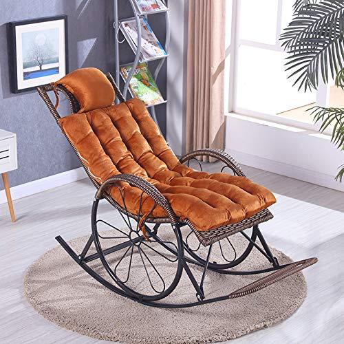 Sun Lounger Cushion for Portable Living Room Chair Garden Patio Thick Padded Bed Patio Épais Rembourré Lit Inclinable Relaxer Chaise Extérieure Coussin De Siège 125x48x8cm (coussin uniquement)