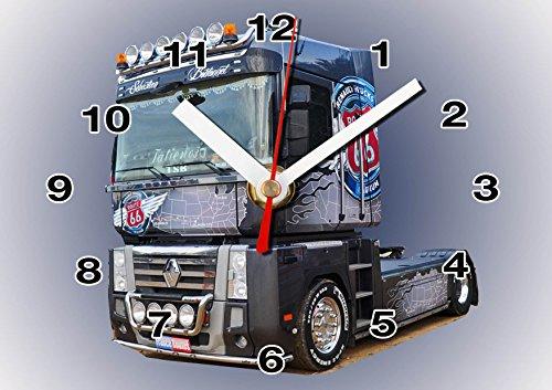Camion, Truck R.ENAULT en Horloge Murale 01M