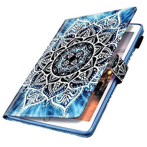 MoreChioce compatible avec Coque Samsung Galaxy Tab S5E,Coque Galaxy Tab S5E T720/T725 Housse de Protection,Jolie motif Mandala Smart Cover Stand Flip Tablette Case Portefeuille Magnétique