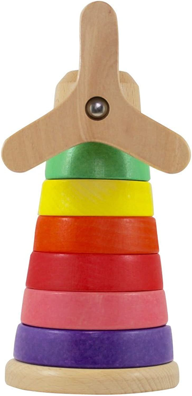Discoveroo Wooden Windmill Stackeroo Playset
