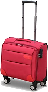 TONGSH Large Capacity Ultra Light 4 Wheel CarryOn Spinner Travel Hand Cabin Trolley Bags Luggage Suitcase (Color : Red)