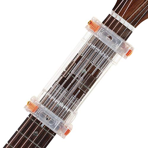 Beginner Guitar Learning Aid Beginner Guitar Learning Assistant Teaching System Finger Power Device Guitar Attachment for Eliminates Finger Pain and String Buzzing