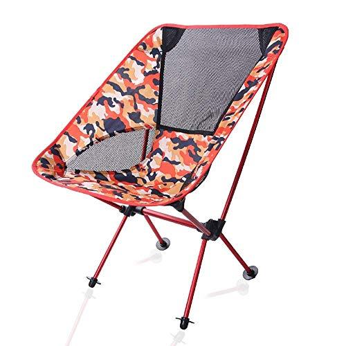 LHQ-HQ Pesca plazas Plegable, Pesca Playa Silla Silla Plegable Camuflaje Luna portátil for el Ocio Campamento Playa Climbin (Tamaño: 53 * 35 * 67cm)
