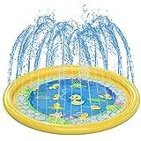 Kids Splash Pad Water Play Mat, Girl & Boy Summer Outdoor/Garden/Beach Burst Sprinkler Pad & Sprinkle Wading Pool | 68in Water Spray Mat Toys Games For Baby/Children/Toddler/Pets Activities (Toy)