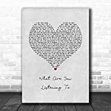 DORYSUHA #Chris #Stapleton #What are You Listening to Grey Heart Song Lyric Poster Wall Art Home Decor Gifts for Lovers Painting