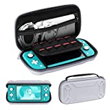 Ztotop Carrying Case for Nintendo Switch Lite 2019, Protective Lightweight NS Lite Case Travel Bag Cover with Inner Pocket 10 Game Cartridges Hand Strap for Switch Lite Accessories, Gray