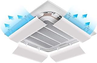 Deflector de aire acondicionado 4 X Aire Acondicionado Central del Parabrisas Deflector Anti Directa Blowing Sábana Cuatro Estaciones Universal Colgado, Blanca (Size : 40CM)