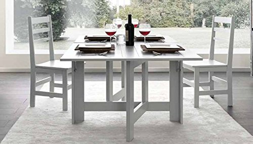 Table pliante console en bois massif design moderne