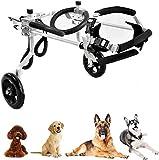 YUEXING - Silla de ruedas ajustable para perro, gato, conejo, peso de 1 kg a 60 kg, rehabilitación de patas de caballo, peso ligero, 9 ruedas, XXXS~XXL