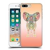 Head Case Designs Oficial Monika Strigel Orange Elefante Gitano Carcasa rígida Compatible con Apple iPhone 7 Plus/iPhone 8 Plus