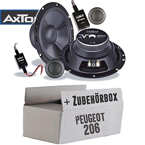Lautsprecher Boxen Axton AE652C | 16cm 2-Wege Auto Einbauzubehör - Einbauset für Peugeot 206 - JUST SOUND best choice for caraudio