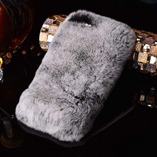 VHR Fundas Cotton Case For iPhone 8 7 6 6S Plus Se 5 5S Cover Fashion Bling Diamond Winter Soft Cotton Phone Cases,Grey,For iPhone 6