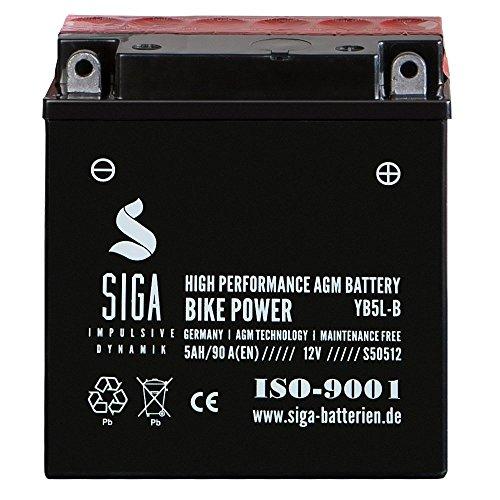 Motorrad Batterie YB5L-B AGM Gel 5Ah 12V 90A/EN Quad Roller Motorradbatterie 12N5-3B