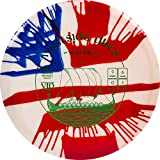 Westside Discs MyDye American Flag Disc Golf Disc | Overstable Putt and Approach Disc | Neutral Frisbee Golf Putter | Understable Fairway Driver | Stamp Colors Will Vary (Hybrid Warship)