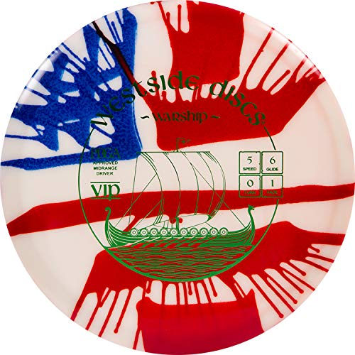 Westside Discs MyDye American Flag Disc Golf Disc   Overstable Putt and Approach Disc   Neutral Frisbee Golf Putter   Understable Fairway Driver   Stamp Colors Will Vary (Hybrid Warship)