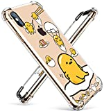 Coralogo for iPhone Xs/X TPU Case, 3D Cute Cartoon Stylish Funny Design Character Protective Chic Kawaii Fashion Fun Cool Unique Food Cover Skin Teens Kids Girls Cases for iPhone Xs/X 5.8' (Lazy Egg