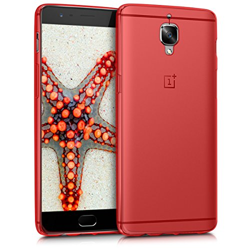 kwmobile Crystal Case for OnePlus 3 / 3T - Soft Flexible TPU Silicone Protective Cover - Red