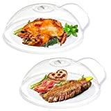 EigPluy 2-Packs Microwave Splatter Cover,Microwave Plate Cover,Microwave Food Cover,Anti-Splatter Microwave Guard Lid with Steam Vents,10 Inch