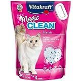 Vitakraft Magic Clean - Arena para gatos (silicona, 5 L, 6 unidades)