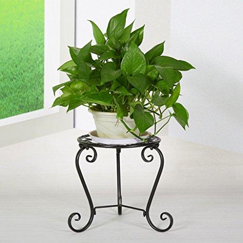 Cadre en fleur de fer Cadre de balcon en bois de chêne Single Layer (Couleur : Noir)