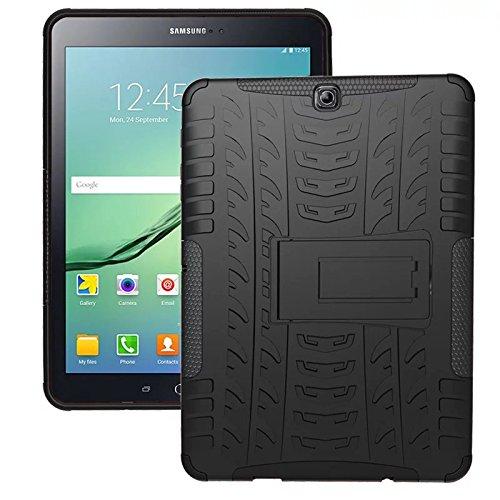 XITODA Custodia per Samsung Galaxy Tab S2 9.7,Hybrid TPU+PC Protection Back Cover per Samsung Galaxy Tab S2 9.7 SM-T810 T815 T813 T819 Tablet Custodia con Stand - Nero