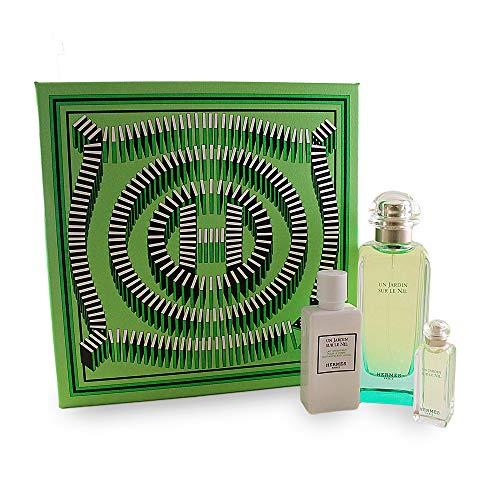 Hermès Un Jardin sur le Nil femme/woman Set (Eau de Toilette, 100 ml, 7,5 ml, Bodylotion, 40 ml)