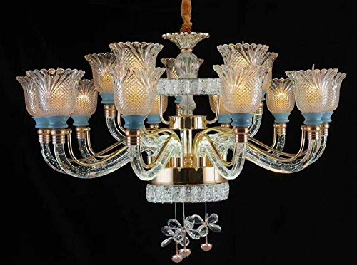 XNCH LED Chandelier zinc Alloy Crystal Ceiling Pendant Lamp Lights Stainless Steel Ring Crystal Bubble Light highlighting Light arm Suspension Lamp/Hanging Lights Lamp Fixture-10