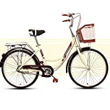 JKC Women's Classic Cruiser Bike Frame, Commuter Cycle Lightweight Travel Woman Adult Vintage Retro City Student Man...