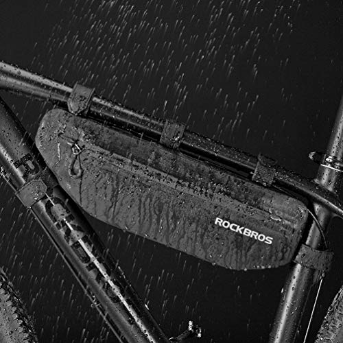 ROCK BROS Bike Frame Bag Waterproof Bike Triangle Bag Bicycle Under Top Tube Bag Corner Pouch Storage Bag for Cycling Accessories
