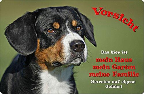 +++ APPENZELLER Sennenhund - Metall WARNSCHILD Schild Hundeschild Sign - AZS 01 T1