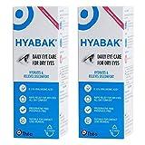 Hyabak - Solución hidratante y lubricante para ojos secos, 10 ml, 2 unidades