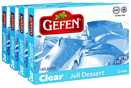 Gefen Clear Unflavored Jello, 3oz (4 Pack)