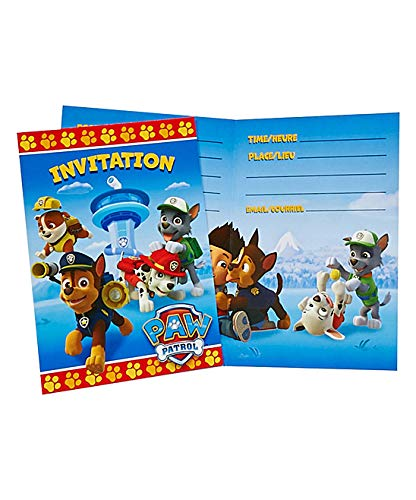 PAW Patrol Party Invitations (Pack of 16)