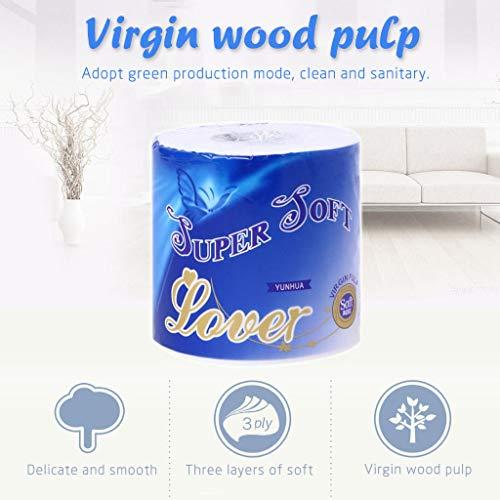 Somerl Toilettenpapierrollen 10 Rollenpapier 4 Schichten glatte und hochsaugfähige Küchenrollen Papierhandtücher Küchenrolle Feuchttücher Toilettenpapier(A,45x15x15cm)