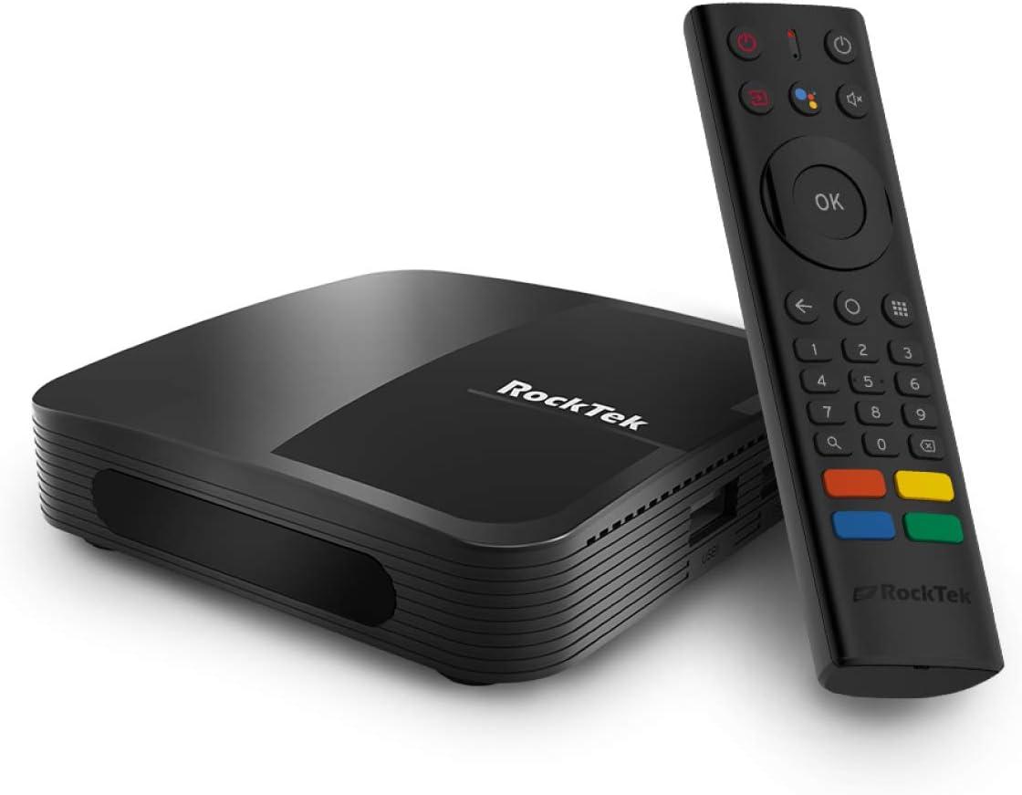 RT ROCKTEK G1 Android TV 10 4K HDR Streaming Media Player| 2GB RAM+16GB Storage/Google Assistant/Built-in Chromecast/ 4K HDR