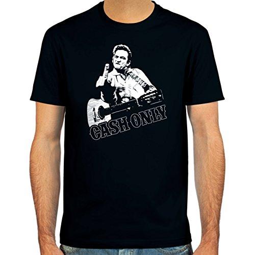 Pixda T-Shirt Cash Only ::: Couleur: Rouge foncé, Vert Olive, Bleu Marine ou Noir ::: Tailles: S-XXL