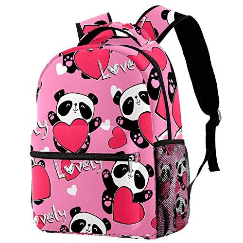Mochila ligera para la escuela, mochila de moda, diseño de Panda Bearon