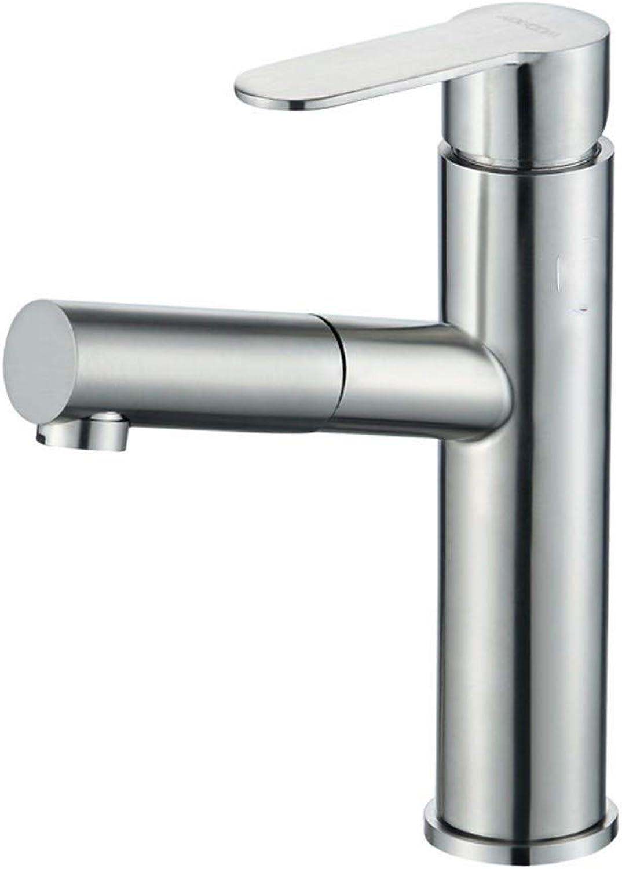 Yuanshuai88-Faucet Wasserhahn aus rostfreiem Edelstahl mit warmem und kaltem Wasser zum Herausziehen