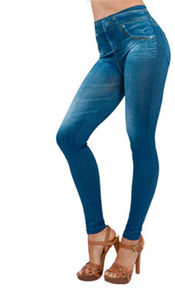 F_Gotal Womens Jeans High Waisted Mid Rise Skinny Stretch Denim Pants Casual Pencil Pants Sweatpants Jogger Jeggings