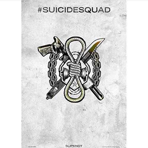 yitiantulong Lienzo Pintura Moive 2021 Spuer Hero Logo The Suicide Squad 2 Deadshot Joker Harley Quinn Wizard Wizard Poster Arte De La Pared T-528 (40X60Cm) Sin Marco